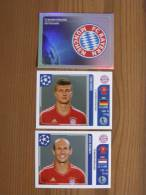 FOOT STICKER FRANCE PANINI UEFA CHAMPIONS LEAGUE 2011/12 - N°005-014-018 - BAYERN MÜNCHEN - 3 STICKERS NEUFS - Edition Française