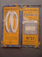 """Carte Michelin De La France - LIMOGES - Feuille No 27 (4) - Publicité """"Cablé"""" Michelin - Strassenkarten"""