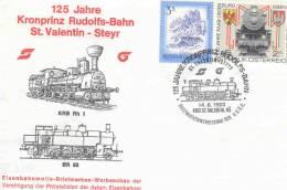 Rep. Osterreich -  125 Jahre Kronprinz  Rudolfs-Bahn St. Valentin-Steyr -  St. Valentin 14/8/1993 (RM1160) - Trains