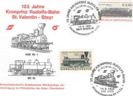 Rep. Osterreich - 125 Jahre Kronprinz Rudolfs-Bahn  St. Valentin-Steyr -  14/8/1993 (RM 1214) - Trains