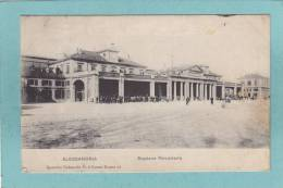 ALESSANDRIA  -  Stazione  Ferroviaria  -  1909  -  BELLE CARTE ANIMEE - - Alessandria