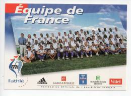 REF 120 : CPM Pub Promo Equipe De France Athlétisme 1998 - Athlétisme