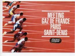 REF 120 : CPM Pub Carte à Pub Saint Denis Stade Athlétisme Gaz De France - Athlétisme