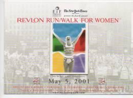 REF 120 : CPM Pub MAx Card U.S.A. Marathon New York Walk For Women - Athlétisme