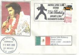 USA. America Loves Elvis (75 Ieme Anniversaire Sa Naissance), Enveloppe Souvenir 2010. Une Seule Disponible - Elvis Presley