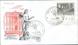 """Italia 1973 Italia Busta FDC """"Filagrano"""" 200° Anniv. Della Morte Di Luigi Vanvitelli - 6. 1946-.. Repubblica"""