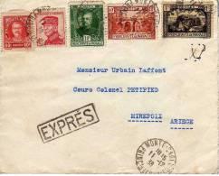 090 - MONACO - STORIA POSTALE - LETTERA ESPRESSO 11-12-1938 - Monaco