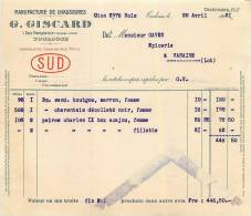 FACTURE LETTRE : TOULOUSE . CHAUSSURES . G GISCARD . 1931 . - 1900 – 1949