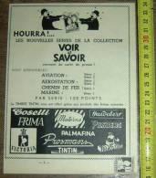 PUB PUBLICITE TIMBRE TINTIN HERGE LES DUPONT DUPOND HOURRA VOIR ET SAVOIR - Collections