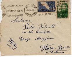 094 - MONACO - STORIA POSTALE - LETTERA 14-12-1938 - Monaco
