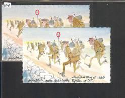 DISTRICT D´ORON /// MEZIERES - MARCHE DU SOUVENIR DU GENERAL GUISAN 1971 - 2 CARTES - TB - VD Vaud