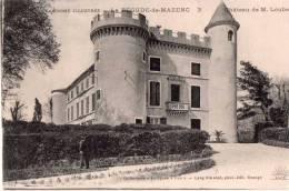 Cpa 1916, LA BEGUDE DE MAZENC, Château De M; LOUBET (19.24) - Autres Communes