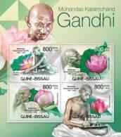 gb12313a Guinea Bissau 2012 M.K.Gandhi Flowers s/s Michel: 5917-5920