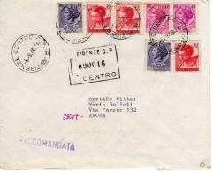 097 - LETTERA SPEDITA RACCOMANDATA IL 05-09-1969 - AFFRANCATURA MISTA TURRITA/MICHELANGIOLESCA - 6. 1946-.. Republic