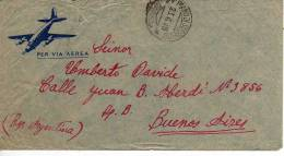 101 - LETTERA SPEDITA ESPRESSO IL 23-06-1948 PER BUENOS AIRES ARGENTINA - 1946-60: Storia Postale