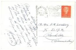 PARACHUTE SLOGAN CANCEL Netherlands 1950 + FREEDOM CIGARETTES Stichting 1940-1945 Koopt Bevrijdingssigaretten On Postcat - Postzegels