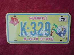 "Plaque Immatriculation Hawai ""K-329"" - Plaques D'immatriculation"