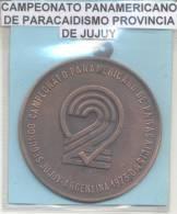 CAMPEONATO PANAMERICANO DE PARACAIDISMO PARACHUTE JUJUY ARGENTINA RARISIME AÑO 1973 GRAND FORMAT - Professionals / Firms
