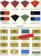 PATTES DE COLLET BRASSARDS DIVERS ARTILLERIE GENIE TRAIN ZOUAVE CUIRASSIER BRANCARDIER HUSSARD SPAHI GENIE LEGION DRAGON - Uniforms
