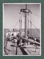 ALGERIE - 120513 - PHOTO  1938 - En Mer à Bord Du DJEBEL NADOR - Paquebot - Argelia