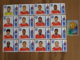 FOOT STICKER FRANCE PANINI UEFA CHAMPIONS LEAGUE 2011/12 - N°141 à 157 - MANCHESTER UNITED - 17 STICKERS NEUFS - Edition Française