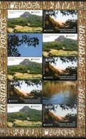 KARABAKH,2011, EUROPA, FORESTS, MOUNTAINS, TREES, SHEETLET OF 4 SETS, MNH, NICE - Geology