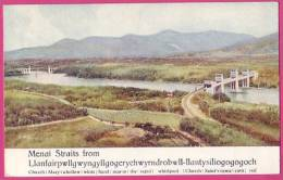 PC3653 Postcard: Menai Straits, LlanfairPG - Anglesey