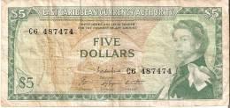 BILLETE DE EAST CARIBBEAN DE 5 DOLLARS   (BANKNOTE) - Caribes Orientales