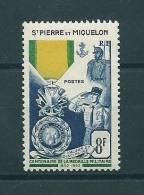 Timbre Neuf * Saint Pierre Et Miquelon - Centenaire De La Médaille Militaire - St.Pierre & Miquelon