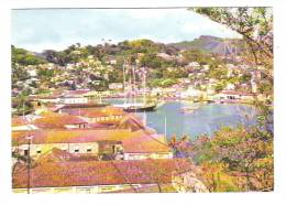 Fort George Overlooks The Inner Harbour And Town Of St George 's, GRENADA, West Indies; Ship / Voilier; Années 60, TB - Grenada