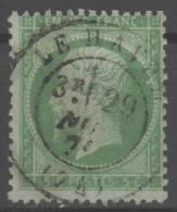 Napoléon III  N° 20  Avec Oblitération Cachet à Date  TTB - 1862 Napoléon III