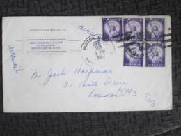 USA COVER 1957 TO UK - United States