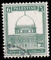 Palestine Scott # 68, 6m Deep Green (1927) Mosque Of Omar, Used - Palestine