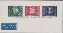 AUSTRIA 1949 UNIVERSAL POSTAL UNION COMBI Sheetlet  [non  Dentelé,Geschnitten,no Dentado,non Dentellato,ogetande] - Variétés & Curiosités