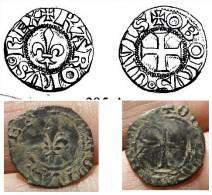 Charles VI, Obole Tournois, 2è émission - 987-1789 Monnaies Royales