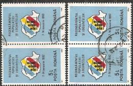 Romania 1991 Usato - Mi.4707  Yv.3957  2coppie - 1948-.... Republiken