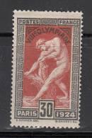 France  Scott No. 200  Unused  Year 1924 - Usados