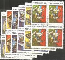 Romania 1994 Usato - Mi.5026/31  Yv.4192/97  Quartina - 1948-.... Republiken
