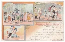 CIRCUS - Zirkus Barnum And Bailey Limited, Litho, Year 1901, Clowns - Circus