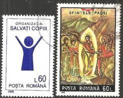 Romania 1995 Usato - Mi.5062;5076  Yv.4224;4275 - 1948-.... Republiken