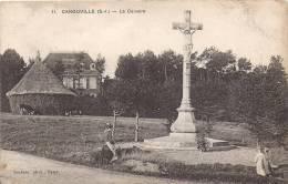 76 CANOUVILLE 1910 ? MANOIR MULON VACHES CALVAIRE ENFANTS CAUCHOISE ED LECLERC 11 ROUSSEURS - Unclassified