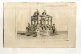 - FRANCE . TOMBEAU DE LOUIS XII . GRAVURE SUR ACIER DU XIXe S. - Sculptures