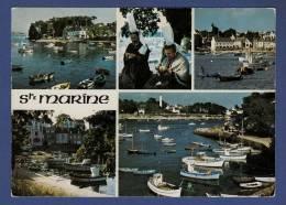 29 COMBRIT STE-MARINE Sur L'estuaire De L'Odet, Face à Bénodet ; Chalutiers, Port, Bigoudènes 5 Vues - Animée - Combrit Ste-Marine