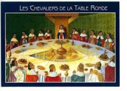 Les Chevaliers De La Table Ronde - Merlin Arthur Pêcheur Brocéliande Paimpont (Histoire N°103 Cp Vierge) - Fairy Tales, Popular Stories & Legends