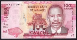 MALAWI  : Banconota 100 Kwacha - 2012 - FDS - Malawi