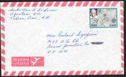 O) 1987 PERU, MARIA REICHE, GERMAN SCIENTIST, COVER TO UNITED STATES.- - Peru