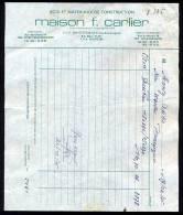Belgique - Bracquegnies - Mons - Ville Sur Haine - Maison F. CARLIER - Bois & Matériaux - 1975 - 1950 - ...