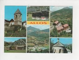 04 Allos église Chalets Téléphérique Vue Générale Belle Carte écrite En 1992 - Other Municipalities