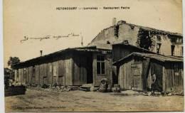 7761 -  Moselle - PETTONCOURT  :  RESTAURANT  FACHA   ( Disparu ??) CAFE  CENTRAL  - Circulée Sous Enveloppe - Autres Communes