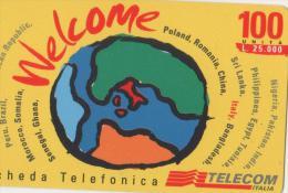 USATA- TELECOM ITALIA-WELCOME DA L.25.000-(WLB) - Italia